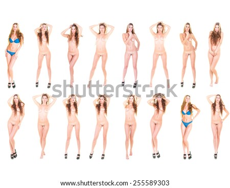 Erotica Many of the same Nude  - stock photo