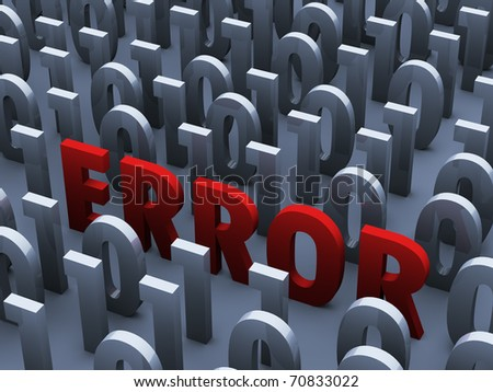 error in code. 3D Illustration - stock photo
