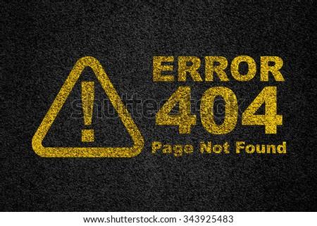 Error 404 symbol on rough surface - stock photo