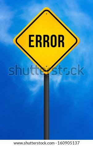 Error Traffic Sign - stock photo