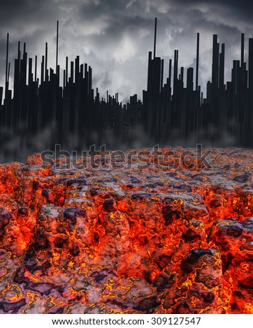 Eruption - stock photo