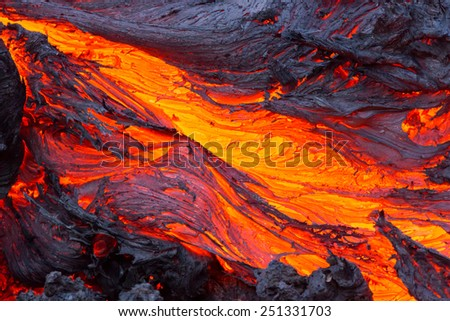 Eruption volcano Tolbachik - stock photo