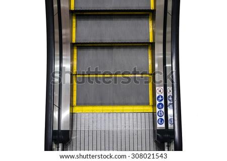 Escalator technology step up comfortable - stock photo
