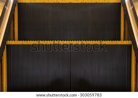 escalators stairway - stock photo