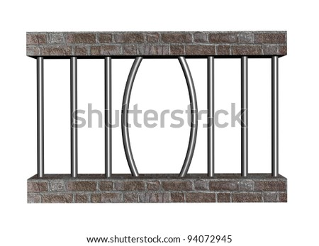 Escape from prison - stock photo