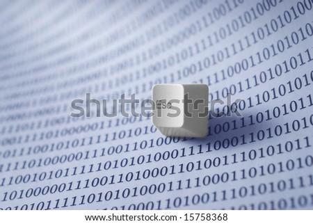 escape key on technology background - stock photo