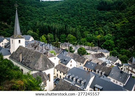 Esch sur Sure, Luxembourg - stock photo