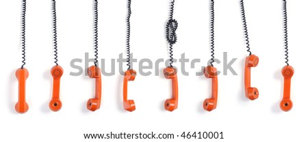 Especial phone hook does not wish to be as all other phones - stock photo