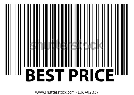 especially generated barcode - best price - stock photo