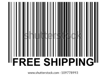 especially generated barcode - free shipping - stock photo