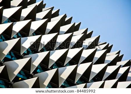 esplanade concert hall in singapore - stock photo