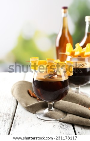Espresso cocktail served on table - stock photo