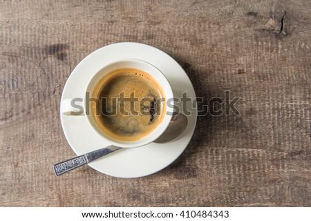 Espresso coffee in a short glass - stock photo