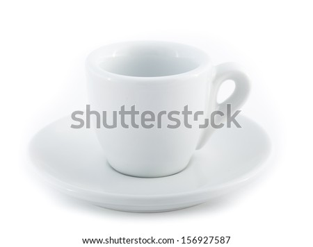 espresso cup isolated on a white background - stock photo