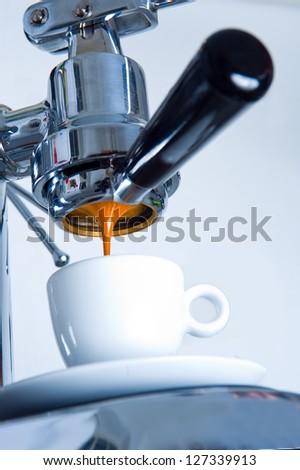espresso machine - stock photo