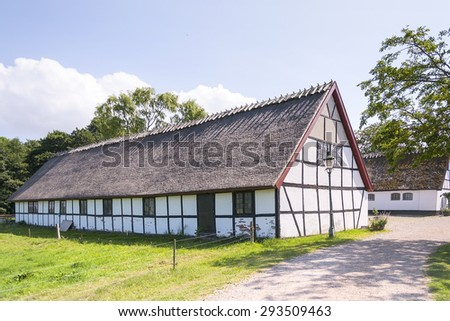 Esrum kloster is an old medieval friary situated in the Hillerod region of Denmark. - stock photo