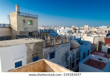 Essaouira and gulls - stock photo