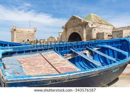 Essaouira port, Morocco - stock photo
