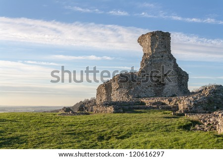 Essex uk hadleigh castle ruins  - stock photo