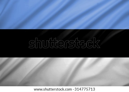Estonia flag blowing in the wind. Background texture. - stock photo