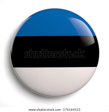 Estonia flag icon. Clipping path included. - stock photo