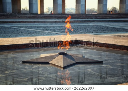 Eternal Flame - symbol of victory in World War II - stock photo
