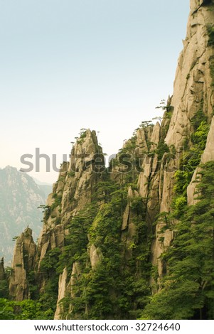 eternal landscapes of chinese mountains - stock photo