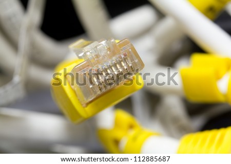 Ethernet connector. - stock photo