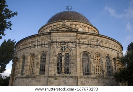Ethiopian church, Jerusalem, Israel - stock photo