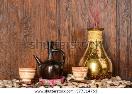 Ethiopian Coffee Bar - stock photo