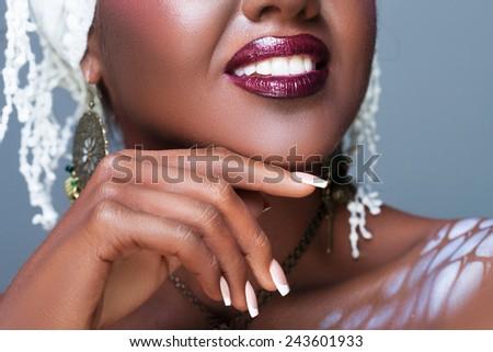 Ethnic closeup - stock photo
