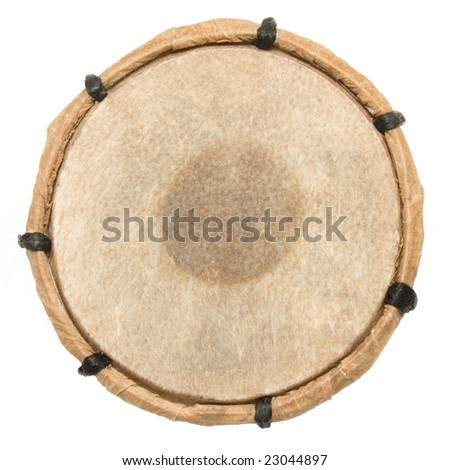 ethnic drum surface - stock photo