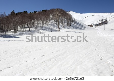 etna neve - stock photo