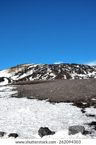 Etna volcano eruption - Catania, Sicily - stock photo