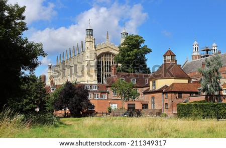Eton College Chapel and buildings - stock photo