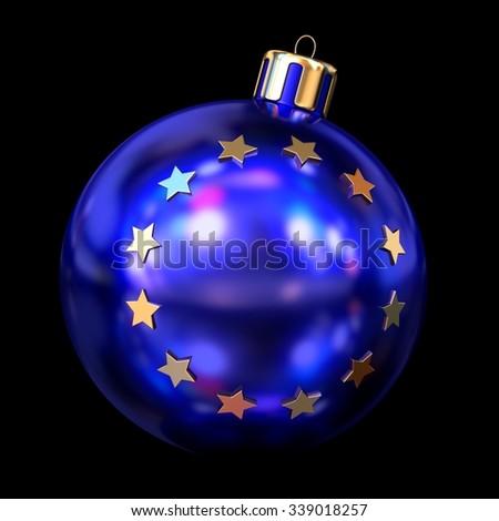 EU Christmas ball - stock photo