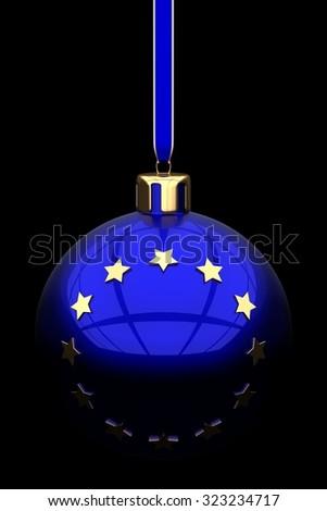 EU Christmas concept - stock photo