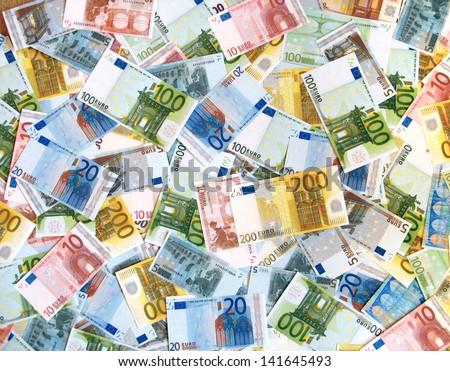 EURO background - stock photo