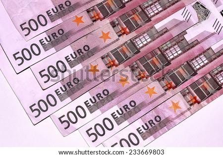 Euro Banknotes 500 - stock photo