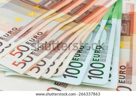Euro close-up, may be used as background - stock photo