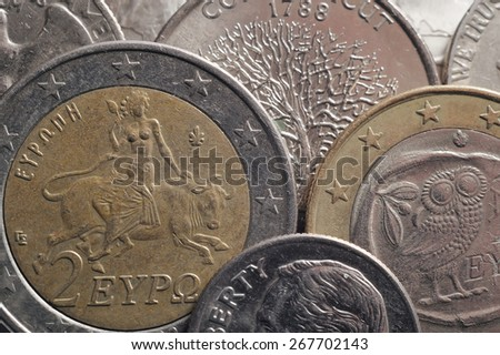 Euro coins and cents - stock photo