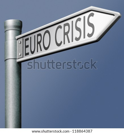 euro crisis recession and devaluation of European currency - stock photo