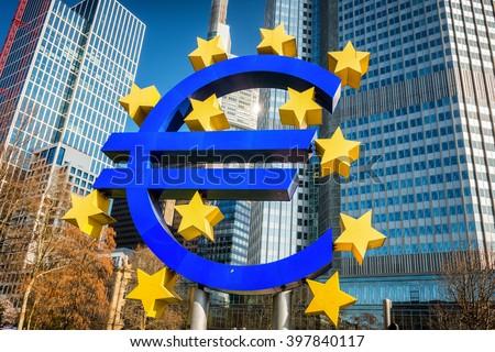 Euro - Frankfurt  - stock photo