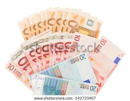 euro money isolated on white background - stock photo