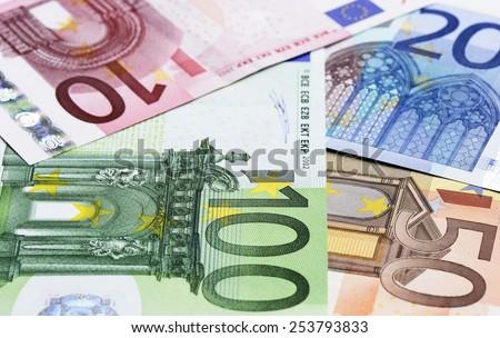 Euro, shallow DOF - stock photo