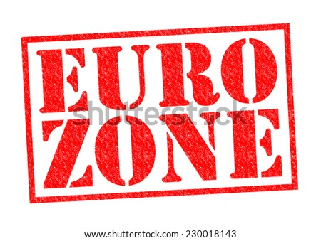 EURO ZONE red Rubber Stamp over a white background. - stock photo