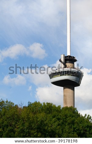 Euromast tower. A landmark of Rotterdam, The Netherlands - stock photo