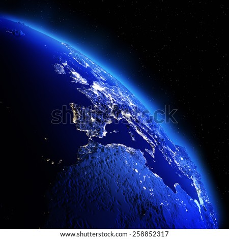 Europe. Elements of this image furnished by NASA - stock photo