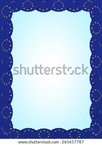 Europe fan folding ribbon background - stock photo