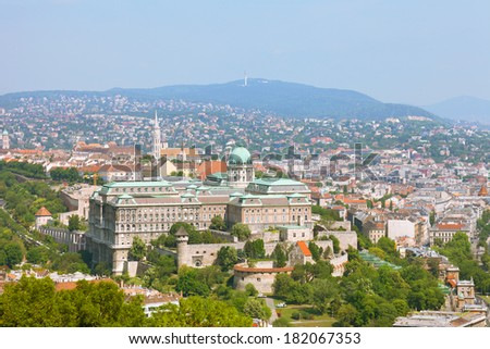 Europe, Hungary, Budapest, Castle Hill and Castle - stock photo